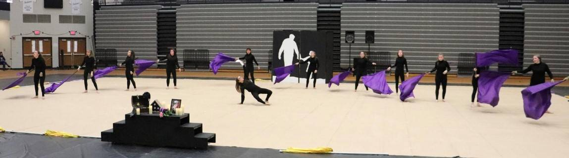 NWHS Winter Guard Competition in Brownsburg
