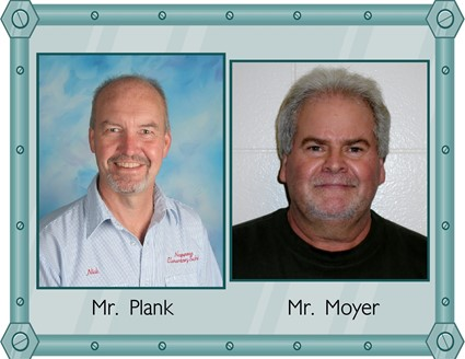 Pictures of Mr. Plank and Mr. Moyer