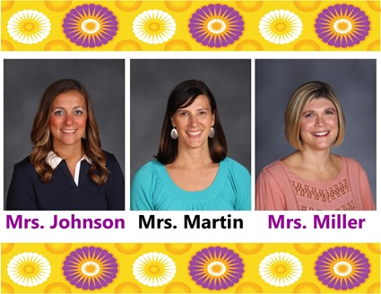 Pictures of Mrs. Johnson, Mrs. Martin, and Mrs. Miller