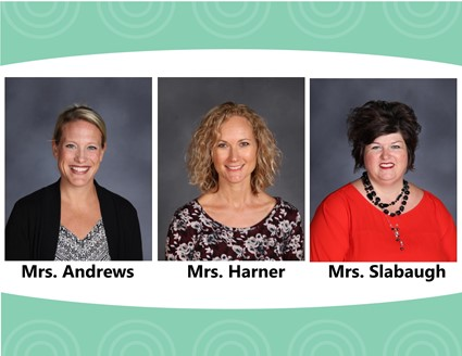 Pictures of Mrs. Andrews, Mrs. Harner, and Mrs. Slabaugh