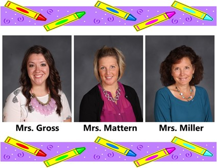 Pictures of Mrs. Gross, Mrs. Mattern, and Mrs. Miller