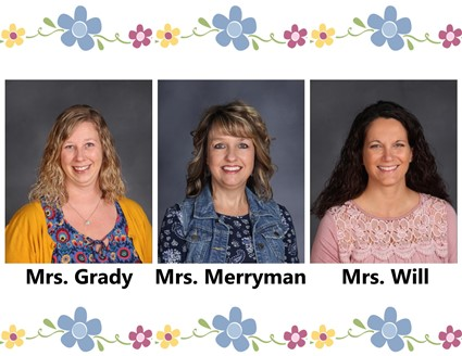 Pictures of Mrs. Grady, Mrs. Merryman, and Mrs. Will