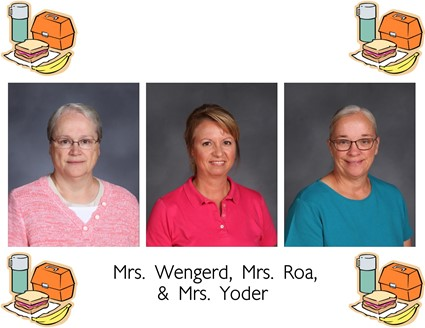 Pictures of Mrs. Wengerd, Mrs. Roa, and Mrs. Yoder