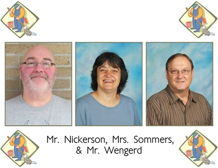 Pictures of Mr. Nickerson, Mrs. Sommers, and Mr. Wengerd