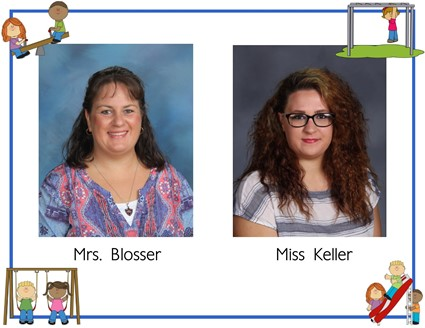 Pictures of Mrs. Blosser and Miss Keller