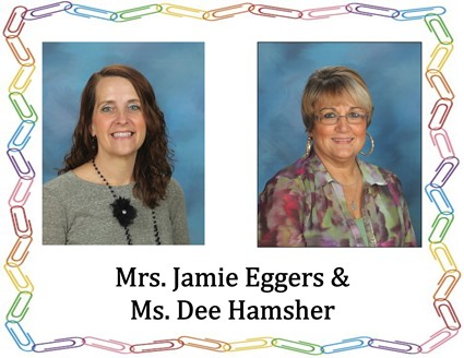 Pictures of Mrs. Eggers and Ms. Hamsher
