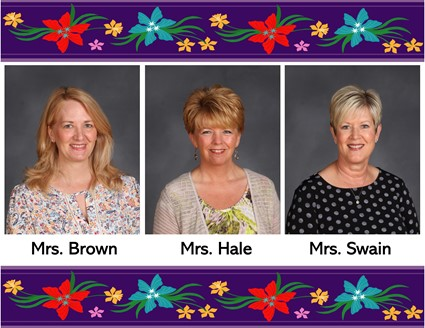 Pictures of Mrs. Brown, Mrs. Hale, and Mrs. Swain