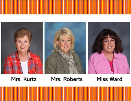 Pictures of Mrs. Kurtz, Mrs. Roberts, and Miss Ward