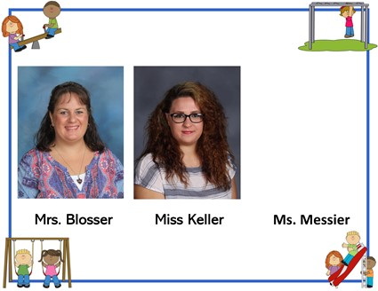 Pictures of Mrs. Blosser, Miss Keller, and Ms. Messier