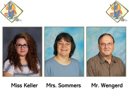 Pictures of Miss Keller, Mrs. Sommers, and Mr. Wengerd