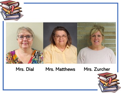 Pictures of Mrs. Dial, Mrs. Matthews, and Mrs. Zurcher