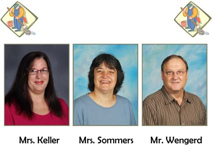 Pictures of Mrs. Keller, Mrs. Sommers, and Mr. Wengerd