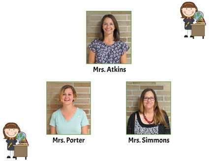 Pictures of Mrs. Atkins, Mrs. Porter, and Mrs. Simmons