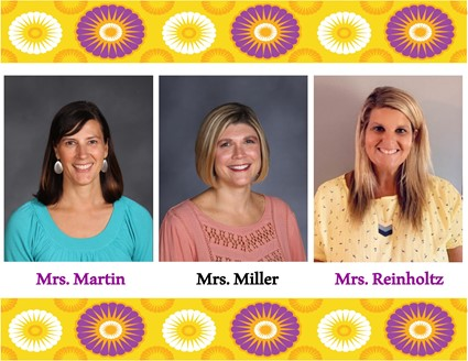 Pictures of Mrs. Martin, Mrs. Miller, and Mrs. Reinholtz
