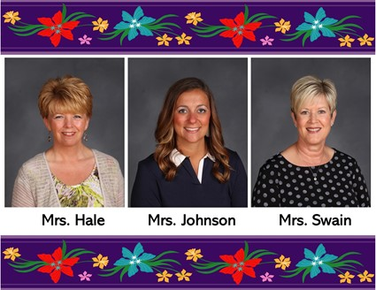 Pictures of Mrs. Hale, Mrs. Johnson, and Mrs. Swain