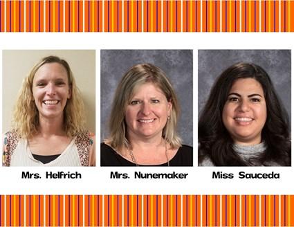 Pictures of Mrs. Helfrich, Mrs. Nunemaker, and Miss Sauceda